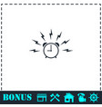 alarm wake-up time icon flat vector image vector image