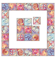 Artistic Floral Border vector image