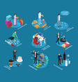 bad habits sign 3d icon set isometric view vector image vector image