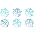 Blue Snowflakes on a white background vector image vector image
