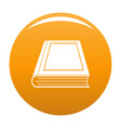 book closed icon orange vector image vector image