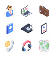 business and customer services icons vector image vector image