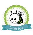 bussy bee label vector image vector image