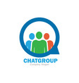 chat group logo design vector image vector image