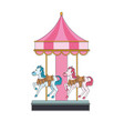 cute carousel cartoon vector image