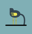 cute ostrich in flat style isolated on background vector image