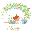 Cute summer vector image vector image