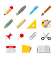 draw paint stationery object school vector image