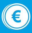 euro coins icon white vector image vector image