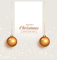 fantastic christmas greeting background with vector image vector image