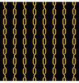 fashion seamless pattern golden chain on dark vector image vector image