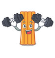 fitness air mattress character cartoon vector image
