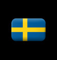 flag of sweden matted icon and button vector image