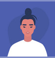 flat portrait a young millennial asian vector image vector image