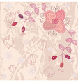 floral pink background vector image vector image
