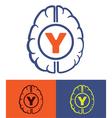 generation y brain vector image vector image