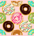 glazed donuts seamless pattern vector image