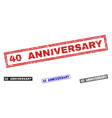 grunge 40 anniversary textured rectangle vector image vector image