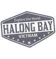 halong bay sign or stamp vector image vector image