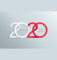 happy 2020 new year elegant greeting card vector image