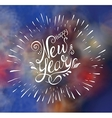 Happy New Year Text vector image vector image