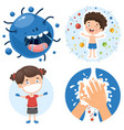 health care cartoon character vector image vector image