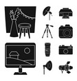 isolated object business and hobbies sign set vector image vector image