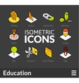 Isometric outline icons set 16 vector image vector image