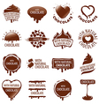 large set of logos chocolate vector image vector image