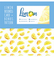lemon cafe watercolor business card template vector image