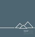 logo egyptian pyramid symbol tourism minimal vector image