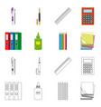 office and supply logo set vector image vector image