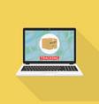 parcel tracking website on laptop screen online vector image