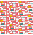 patterns cute bubble with pink background vector image