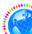 People around Earth vector image