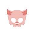 pig skull isolated pink swine skeleton head vector image vector image