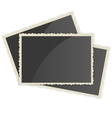 Retro Photo Frame On White Background vector image vector image