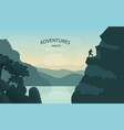 road trip or travel concept with open road vector image