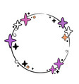 round festive frame with stars vector image