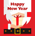 santa claus message banner red santa claus suit vector image