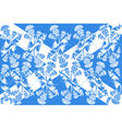 Scottish flag with ornaments of flowers thistle vector image vector image