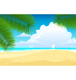 Sea landscape with palm trees vector image vector image