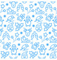 seamless pattern with icons christmas items vector image