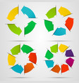 Set of circle arrows vector image