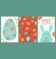 set of cute easter cards vector image vector image
