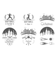 Set Softball Badges and Logos vector image vector image