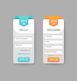 sign in and up form pages vector image
