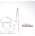 single flat icon mosque isolated on white vector image vector image