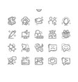 social icons well-crafted pixel perfect vector image