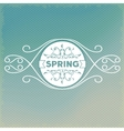 Spring label design with floral ornaments vector image